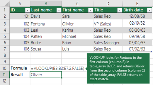 vlookup formula in excel 2007 with example