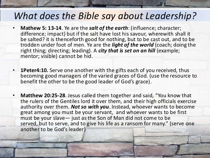 what does the bible say about example to others