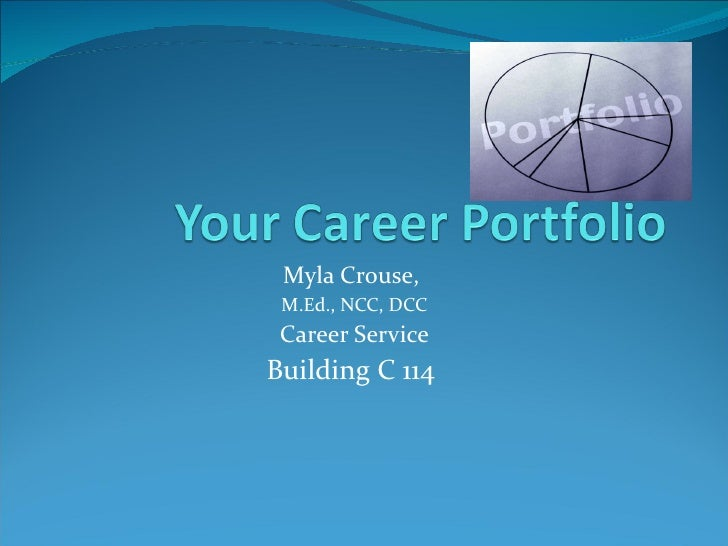 what is an example of a career portfolio