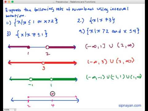 what is interval notation example